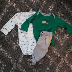 3 for 10 0-3 month outfit